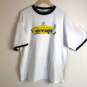 Vintage Reebok Men's Golf Graphic Ringer Tee
